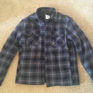 Gap lined flannel shirt jacket - Medium